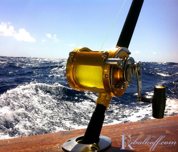 Удочки и снасти Penn и Shimano для рыбной ловли с катера в Доминикане